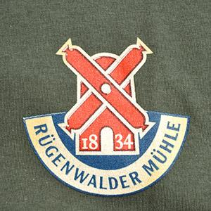 """ALT=""""Rügenwalder Mühle - Siebdruck"""""""